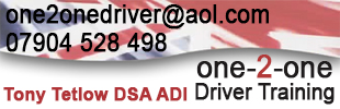 one2one Driving School Tony Tetlow